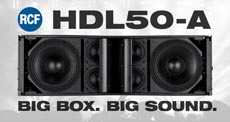 RCF HDL50-A Line Array System Packages Control and Power